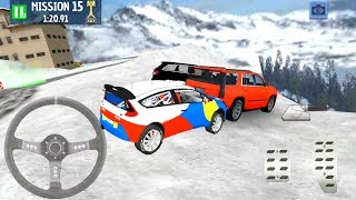 Snow Driver Winter Ski Park - Car On An Icy Road - Android Gameplay FHD