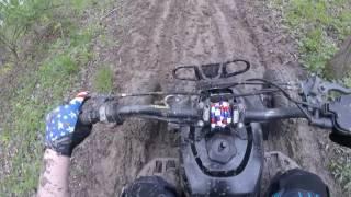 Yamaha Blaster muddy trail rip