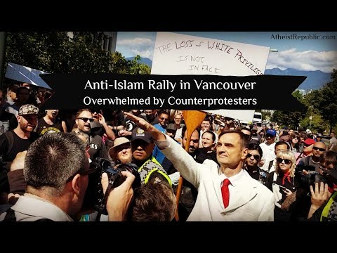 Anti-Islam Rally in Vancouver Overwhelmed by Counterprotesters