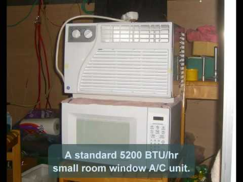 window air conditioner used to heat water and save energy diy hybrid water heater