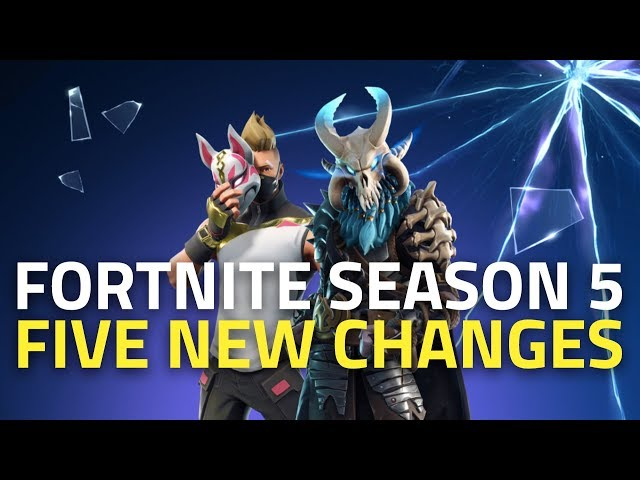 Fortnite Season 5 Map Changes Battle Pass Week 1 Challenges Skins