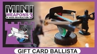 Gift Card Ballista // Mini Weapons of Mass Destruction 3 // How to build Homemade Office Weapon