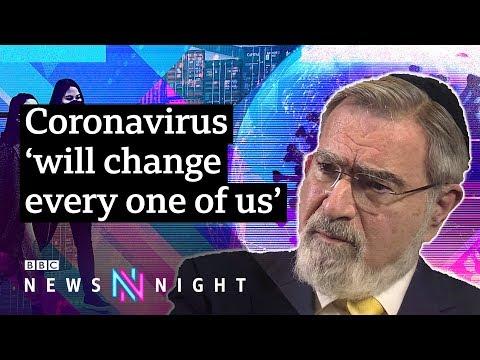 rabbi-sacks:-coronavirus-'will-try-nation-like-during-wwii'-[full-interview]---bbc-newsnight