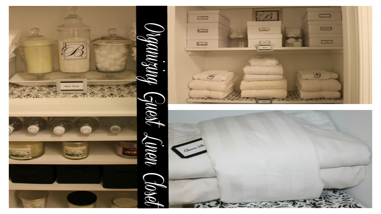 Small Linen Closet Organization Ideas For My Guest Youtube