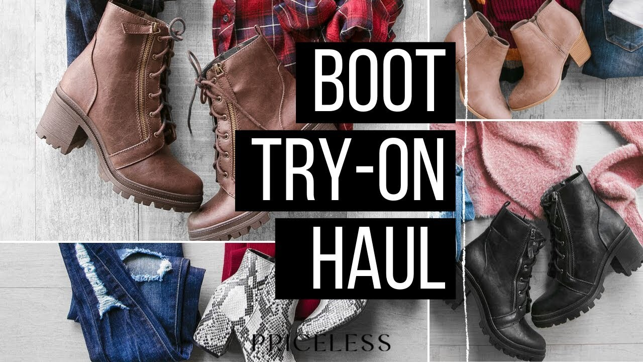 [VIDEO] - BOOT TRY-ON HAUL | Fall & Winter Women's Boots 1