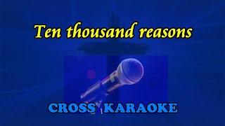 10,000 reasons - karaoke with lyrics by Allan Saunders