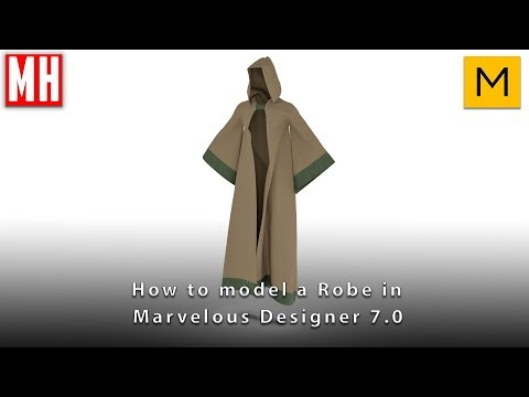 How to create a ( Warrior ) robe in Marvelous Designer 7.0