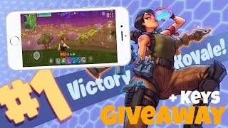 Fortnite On Mobile (Review/Gameplay) - GIVEAWAY CODES