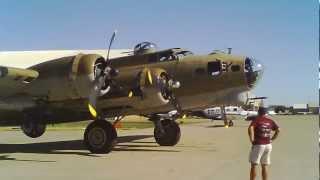"Boeing B-17 Flying Fortress ""Nine-O-Nine"" flies off at McClellan Field - June 2012"