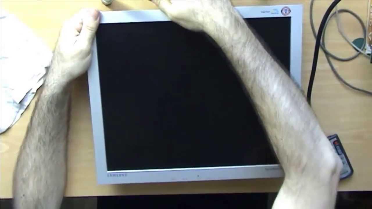 Tutorial Reparación fallo en interruptores de un monitor lcd Samsung ...