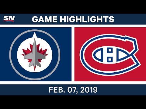 NHL Highlights | Jets vs. Canadiens - Feb. 7, 2019