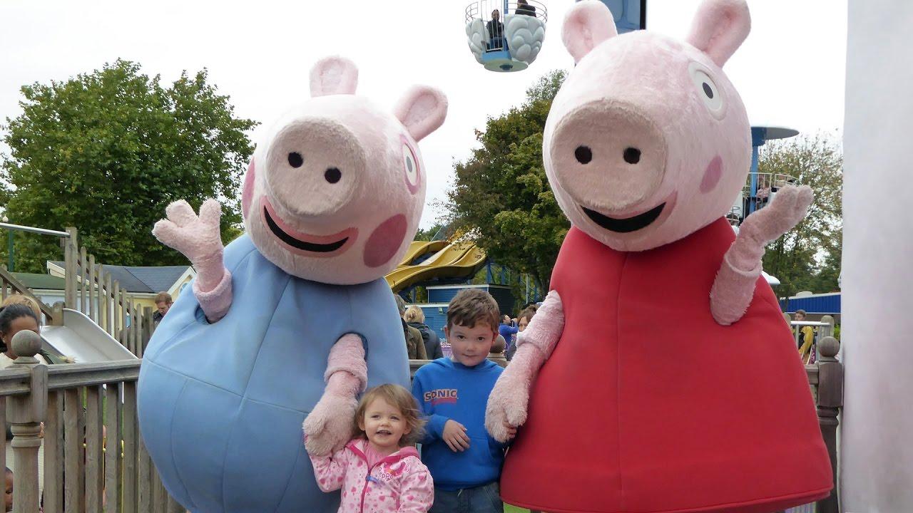 Meeting Peppa Pig George Pig At Peppa Pig World Paultons Theme