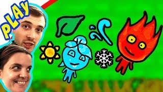 БолтушкА, ПРоХоДиМеЦ и НОВЫЙ Мир ОГНЯ и ВОДЫ! #254  Игра для Детей - Огонь и Вода 5