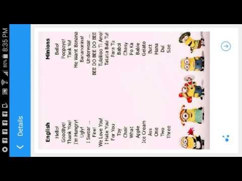 how to talk minion language
