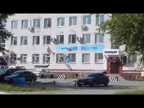 г.Тавда прогулка по ул.Ленина и городскому парку  1 часть.