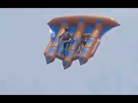 Банан водный аттракцион (Inflatable Banana Boat) Затока - YouTube