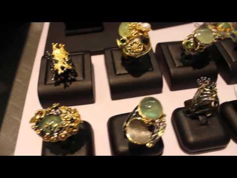 Unique designer jewelry by Passione Gioielli at JOGS Tucson Gem & Jewelry Show