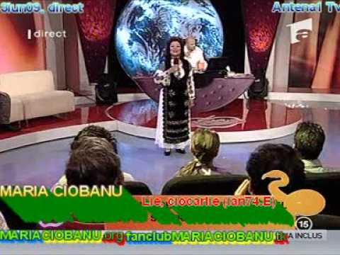 MARIA CIOBANU - Lie, ciocârlie (ian74.E [4iun09, direct, Antena 1 Tv]); MARIACIOBANU.org