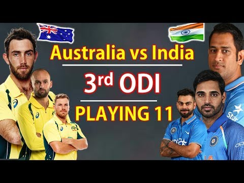 India vs Australia 3rd ODI | Playing XI | India vs Australia 2019