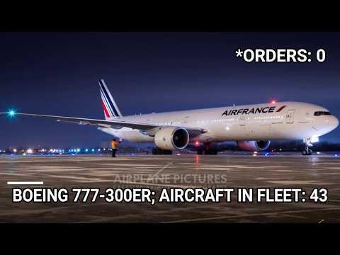 Air France fleet as of November 2018