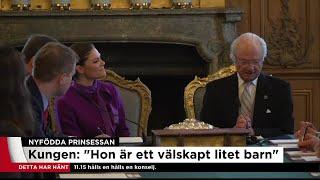 Kungen: Den lilla prinsessan ska heta Adrienne - Nyheterna (TV4)