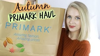 AUTUMN PRIMARK HAUL (September 2015)
