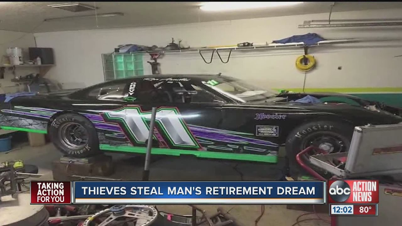Racecar stolen from Land O\' Lakes storage yard - YouTube