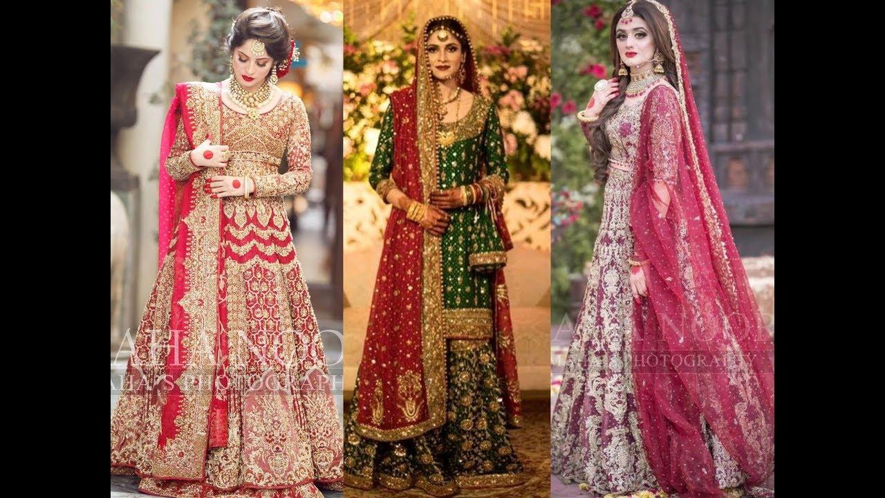 Attractive Barat Bridal Dresses Color Combination Unique Bridal Designer Dresses 2019 2020 Bridals Youtube