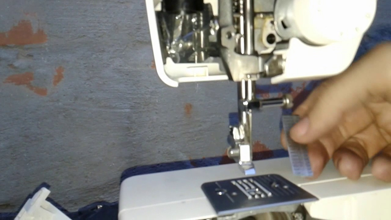 Adjusting needle bar home sewing machines (TIMES) - YouTube