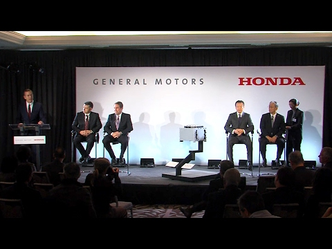GM and Honda Fuel Cell Joint Venture Announcement (Full Press Conference)