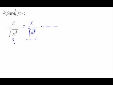 Racionalizar (raíz cuarta)