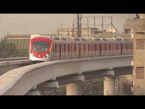 Highlights from the test-run of Orange Line Metro Train