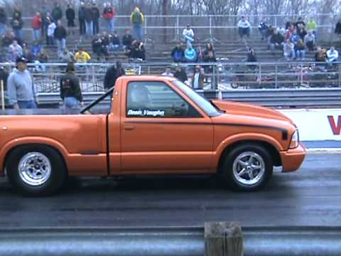 9 second s-10 chevy drag truck!