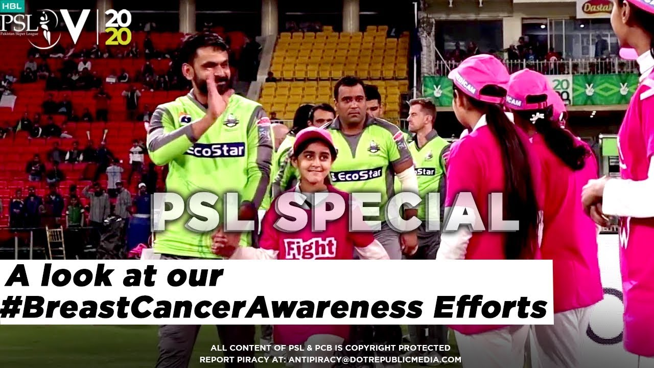 A look at our #BreastCancerAwareness efforts, as the Gaddafi, players and officials went pink