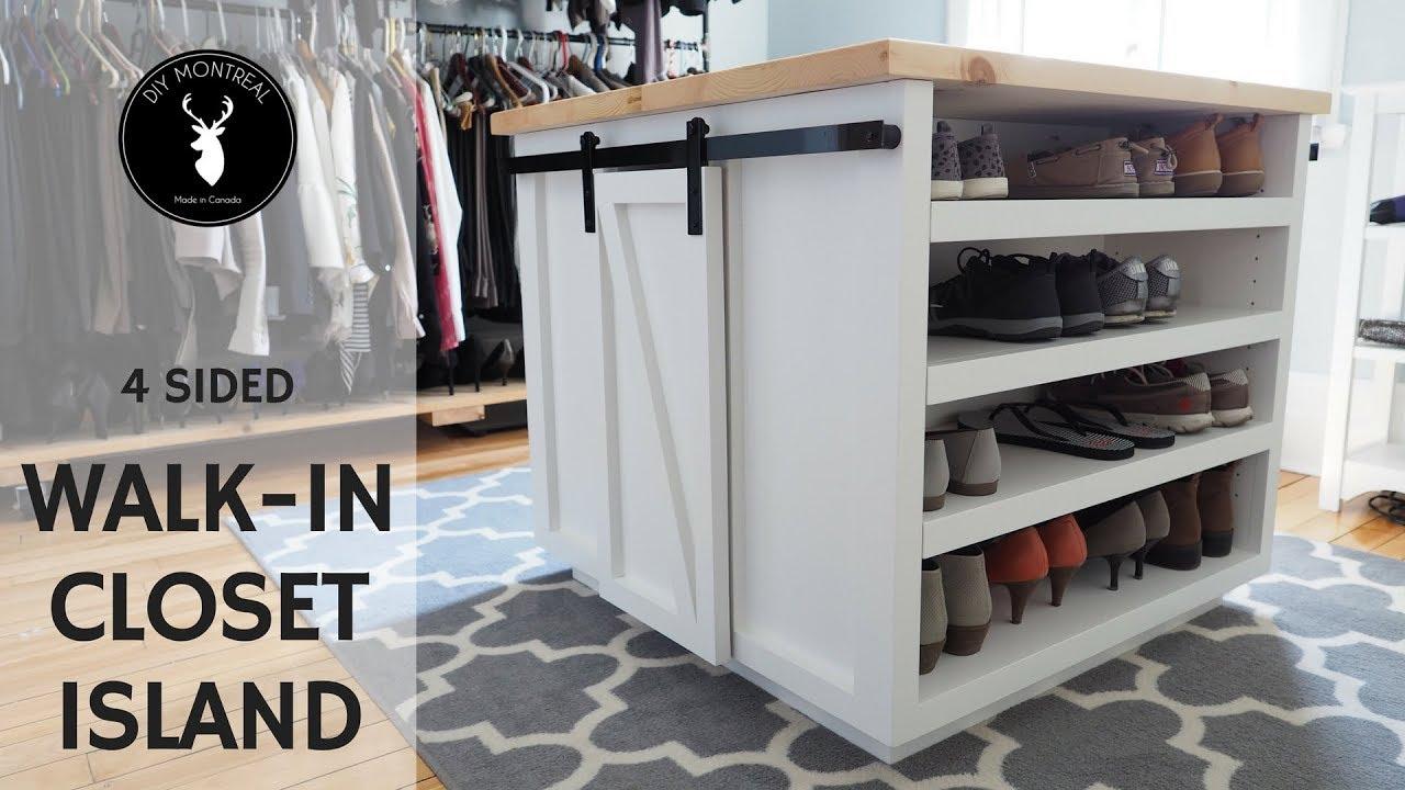Walk-in Closet Island   DIY Furniture - YouTube
