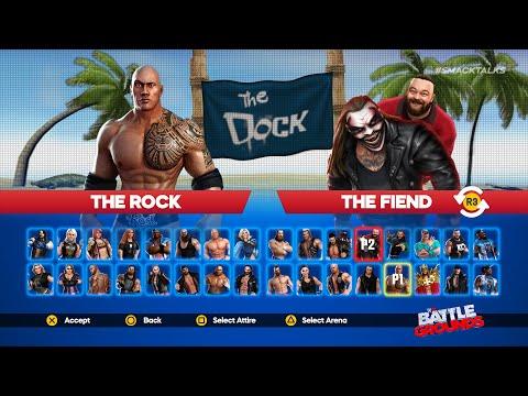 WWE 2K Battlegrounds Main Menu & Roster Selection Screen (Universal Design Concept)
