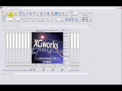 Setup Yamaha Style with XGworks (drum, chord, bass)