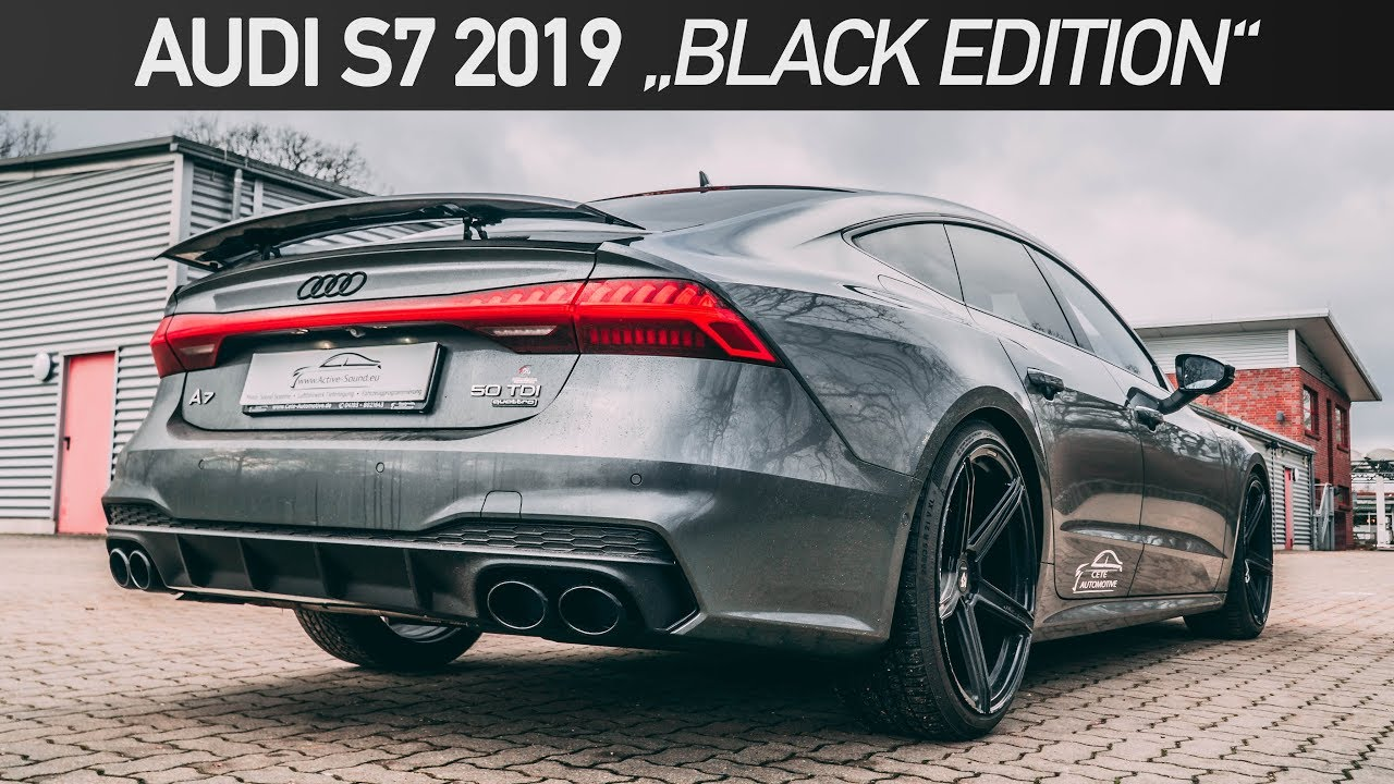 Audi S7 2019 Mit Optikpaket Schwarz Audi A7 50 Tdi Black Edition Soundmodul Cete Automotive