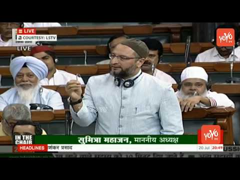 Asaduddin Owaisi Speech in Parliament Over No Confidence Motion | Lok Sabha | YOYO TV Channel