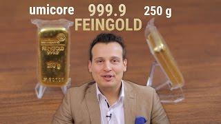 GOLDBARREN VON UMICORE (250g) - Gold kaufen vom renommierten Hersteller (Review)