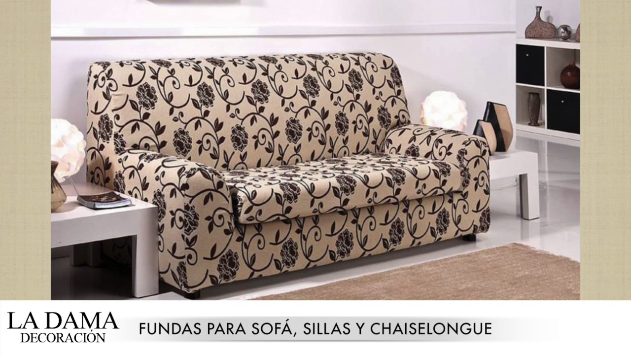 Fundas para sofas sillas chaiselongue y relax youtube - Fundas para tresillos ...