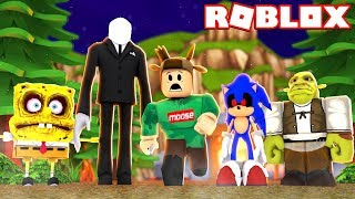 SURVIVE THE SCARY MONSTERS IN THE WOODS IN ROBLOX! (Roblox The Abnormal Cabin)