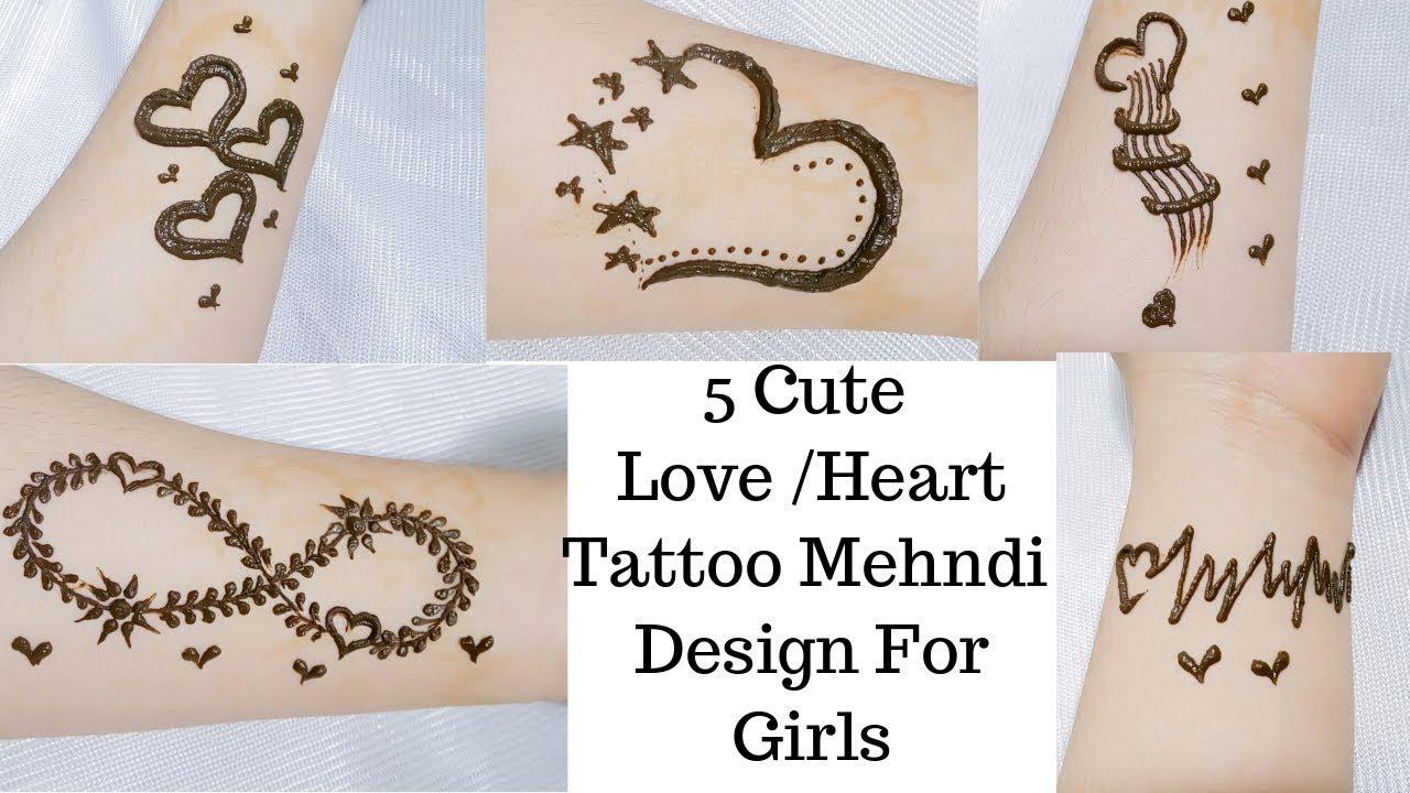 Stylish Tattoo Mehndi Design For Wrist Tattoo Mehndi Design For Girls Heart Tattoo Mehndi Design