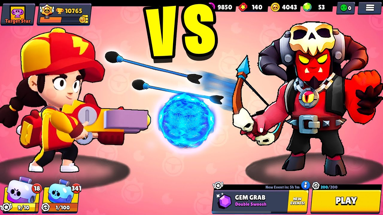 JESSIE vs BO | 1 vs 1 | 27 Tests | Best Brawler in Brawl Stars?