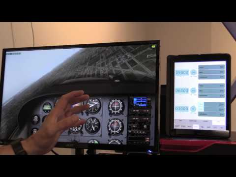 iPad instructor station in X-Plane 10