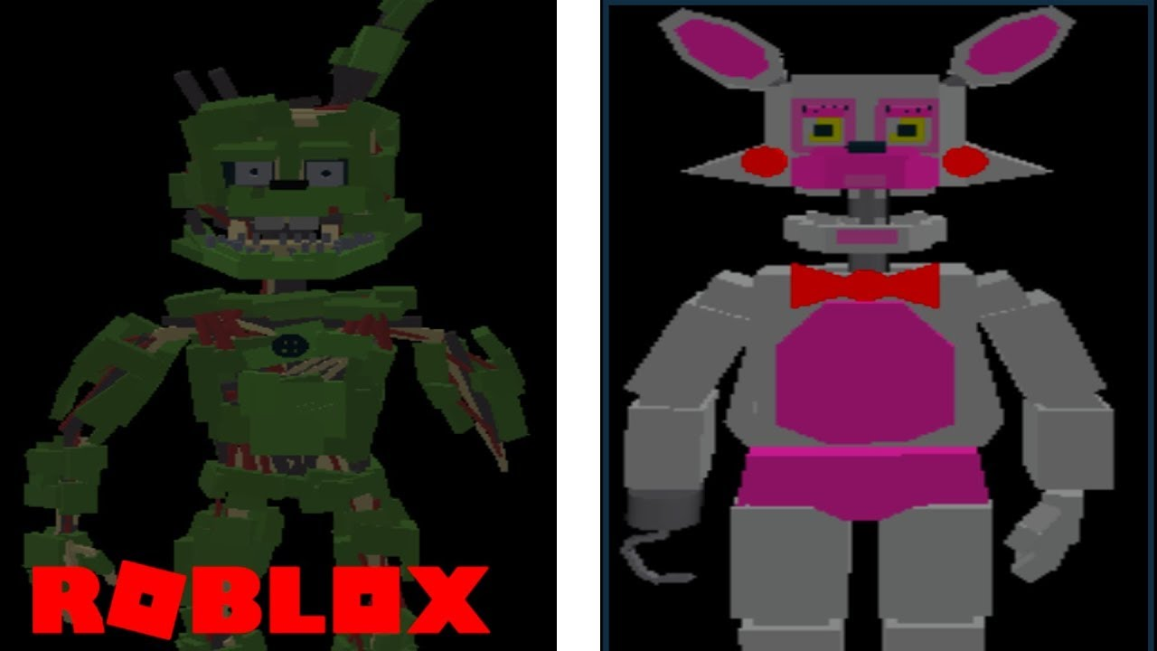 Foxy Roblox Fnaf Becoming Afton And Toy Foxy In Roblox Ultimate Random Night Youtube
