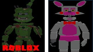 Becoming Afton and Toy Foxy in Roblox Ultimate Random Night