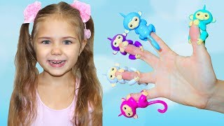 Learn colors with Five litlle monkeys Finger Family Song by Julia funny girl