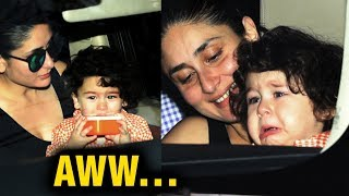 Taimur Ali Khan CRYING In Kareena Kapoor Khan's Arms