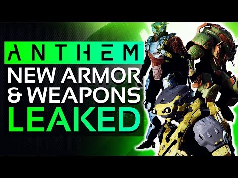 Anthem NEW LEAKS: Unique Legendary WEAPONS, New ARMOR SETS & Support Items!